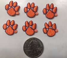 Clemson Tigers Paw NCAA Embroidered Iron Or Sew On Patch  (lot of 6 pcs.)