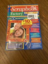 Scrapbook Factory Deluxe Computer Software With Digital Photo Editor