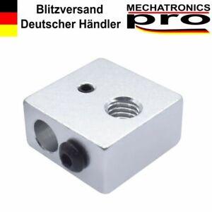 Hot End Heizblock MK8  M6 für 6mm Heater passend Prusa Anet Geeetech Anycubic
