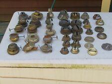 Lg Lot Vintage Brass Kerosene Burner & Other Parts