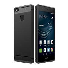 Huawei P9 Lite Hülle, Simpeak Schwarz Premium  weiche Schützendes Rückseiten