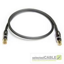 HDTV Antennenkabel 2m 120dB 3-fach geschirmt Class A schwarz LCD 115 + HI-ANCM01