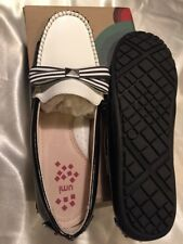 Umi patent leather black/white girls shoes