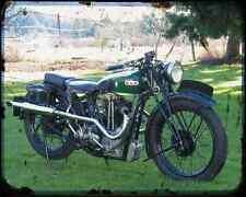 Bsa Bluestar 02 A4 Metal Sign Motorbike Vintage Aged