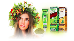HAIR COLOURING CREAM WITH HENNA EXTRACT HERBAL TIME 75 ml READY TO USE EU MADE