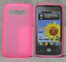 New Light Pink TPU Matte Gel skin case cover for LG Optimus Hub/Glare E510