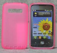 New Light Pink TPU Matte Gel skin case cover for LG Optimus Hub/Glare E510