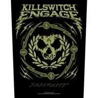 """KILLSWITCH ENGAGE - """"SKULL WREATH"""" - LARGE SIZE - SEW ON BACK PATCH - OFFICIAL"""