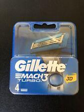 Gillette Mach 3 Turbo Razor Replacement Blades - 4 Pieces