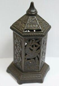 Late Victorian Cast Iron Pillar Pagoda Money Bank, Chamberlin & Hill