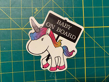 Mythical Unicorn sticker - Baby On Board sticker