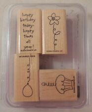 Stampin Up Stamps! 2004 Birthday Best! Set Of 4!