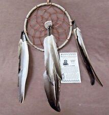 Native Navajo Handmade Medium/Large Size Leather Dream Catcher  M0139