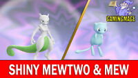 Pokemon Let's GO Shiny 6 IV Mewtwo & Mew Legendary