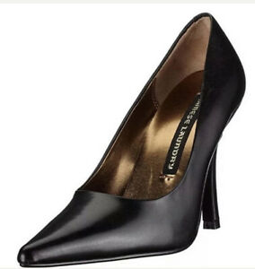 NEW - Chinese Laundry Women's Spicy Pointed Toe Pump , Black Leather Sz 8.5