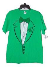 St Patties Day Green Tux T-shirt Size Medium Nwot Irish Ireland