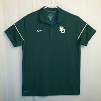 Nike Baylor Bears Polo Golf Shirt Men's Large L Green