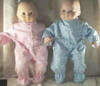 "Doll Clothes BabyMade 2 Fit American Girl 15"" Boy Twins Pajamas Pink Blue Star"