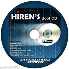 HIRENS Boot Utility PC CD formattare partizioni recuperare file sicurezza firewall + NUOVO