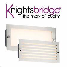 Knightsbridge 230V IP54 5W White LED Garden Outdoor Brushed Steel Brick Light