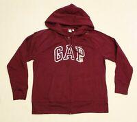 Gap Women's Full Zip Classic Logo Hooded Jacket FR7 Beach Plum Purple Large NWT