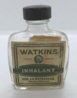 Vtg J R Watkins Inhalant Medicine Company Glass Bottle Winoma Minn Advertising