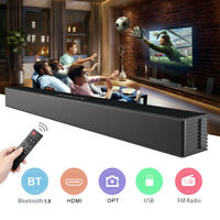40W Bluetooth Soundbar TV Heimkino Lautsprecher Subwoofer Musikbox Fernbedienung