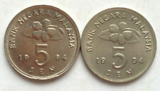 Parliament Series 5 sen coin 1994 2 pcs