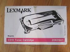 NEW GENUINE Lexmark C510 Magenta Toner Cartridge 20K0501