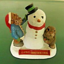 "Tom Clark & Tim Wolfe ""Cairn Christmas 1998~Snowman"" #6347 Edition # 62"