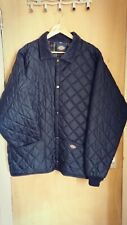 DICKIES Navy Blue Padded Jacket XXL Flannel Check Plaid Lining