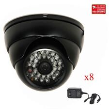 8x Dome Security Camera CCTV 28 Infrared LEDs Wide Angle 600TVL Home Outdoor WQN