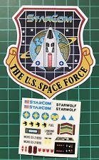 Starcom Starfleet Starwolf Mattel custom repro vintage decals/stickers die cut
