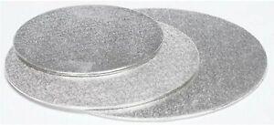 """Silver Cake Board Single Thick - Round / Square 8"""", 9"""", 10"""""""