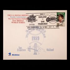 1989 World Series USPS Commemorative Lou Gehrig Stamp Earthquake Game 3 Postcard