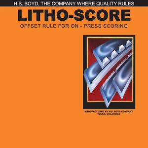 HS Boyd Litho Score 20 feet Roll #827-3 Side Series Rules