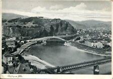 uralte AK, Aussig an der Elbe (Ústí nad Labem) mit Brücken, Feldpost
