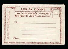 Devon LORNA DOONE Ten View letter card c1930/50s by Photochrom