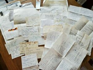 Vintage Lot of RECIPE CARDS Handwritten Clipped Typed