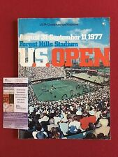 "1977, Chris Evert, ""Autographed"" (JSA) Full Signature ""U.S. Open"" Magazine"