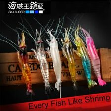 6pc Soft Plastic Fishing Lures Tackle Prawn Shrimp Flathead Bream Cod Bass Lure