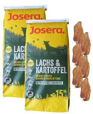 2x15kg Josera Nature Lachs & Kartoffel Adult Hundefutter + 6 x Kaninchenohren