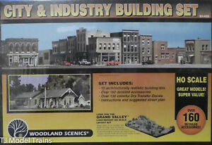 Woodland Scenics HO #1486 City and Industry Building Set