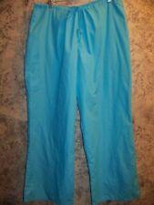 Turquoise scrub pant nurse dental medical woman plus 2X drawstring elastic waist