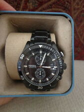 Fossil Men's Chronograph Wakefield Black-Tone Stainless Steel Watch 24mm CH2936