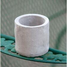 "Cement 3"" H Pot Planter and Candle Holder"