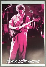 Frank Zappa Playing Live Guitar Out of Print Poster 23 x 33