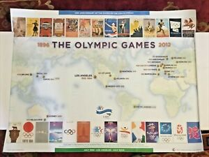 Official 1984 Los Angeles Olympics 25th Anniversary poster 1896 to 2012