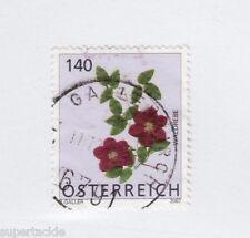 2007 Austria #2101 Θ used VF sotn cds, Clematis flower stamp, 140 c