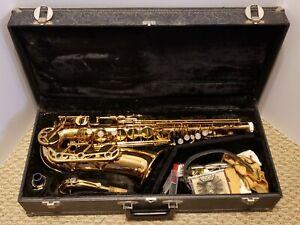 Vintage VITO Brass Alto Saxophone with Original Hard Case - Rare Conn 7m Version